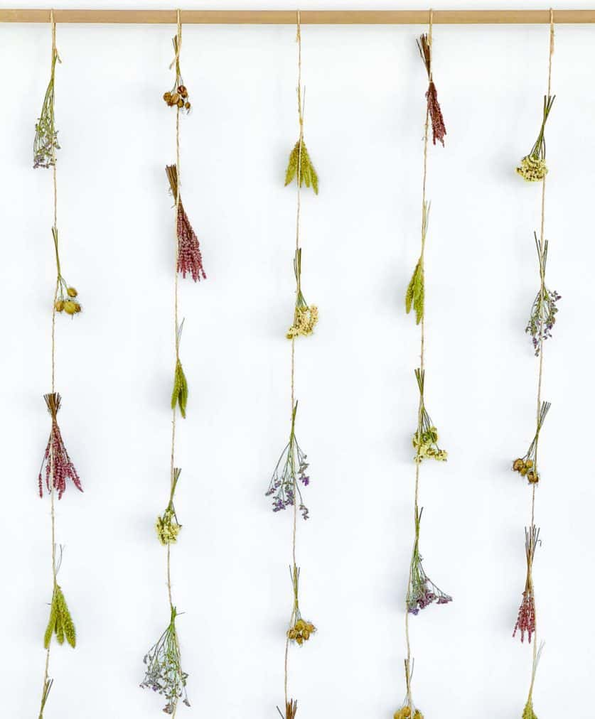 gedroogde bloemen decoratie