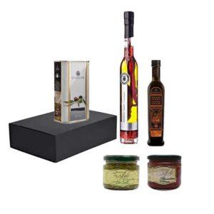 olijfolie, saus en azijn CADEAUMANDEN