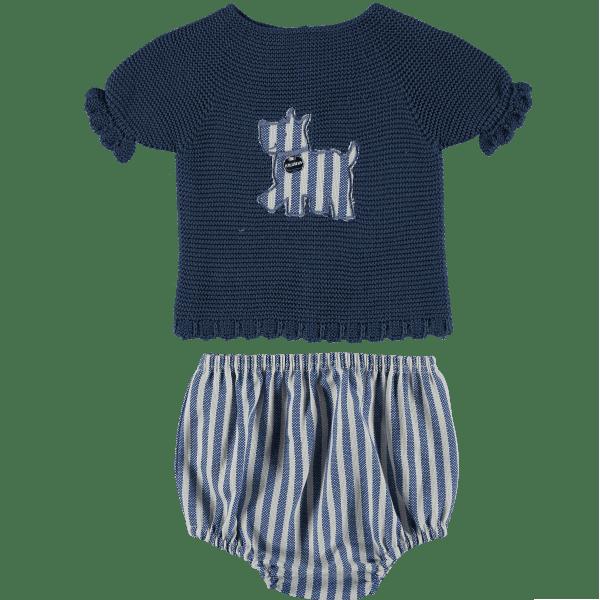 babykleertjes blauwe Compleet babysetje _ babyjas