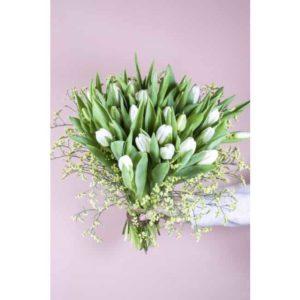 Witte tulpen cadeau