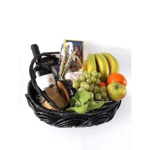 fruitmand met wijn deluxe
