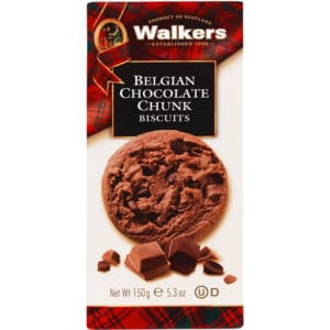 Walkers Belgian Chocolate Chunk Biscuitsdoos 150g
